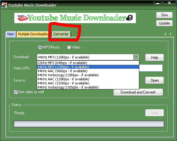 converter page of our youtube downloader